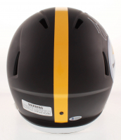 JuJu Smith-Schuster Signed Pittsburgh Steelers Full-Size Matte Black Speed Helmet (Beckett COA) at PristineAuction.com