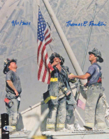 "Thomas E. Franklin Signed ""Flag Raising at Ground Zero"" 11x14 Photo Inscribed ""9/11/2001"" (Beckett COA)"