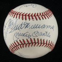 500 Home Run Club ONL Baseball Signed by (11) with Ted Williams, Mickey Mantle, Hank Aaron, Willie Mays, Reggie Jackson, Ernie Banks, Mike Schmidt (PSA LOA)
