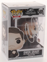 "Chris Pratt Signed ""Jurassic World"" #585 Owen Grady Funko Pop Figure (PSA COA) at PristineAuction.com"