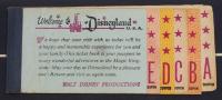 Disneyland 15x28.5 Custom Framed Vintage 1963 Map Display with Vintage Ticket Booklet at PristineAuction.com