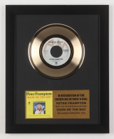 "Peter Frampton Custom Framed 12.75x15.75 Gold Plated ""Show Me The Way"" Record Album Award Display"
