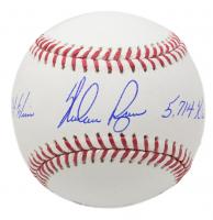"""Nolan Ryan Signed OML Baseball Inscribed """"324 Wins"""" & """"5,714 K's"""" (JSA COA, Ryan Hologram & AIV Hologram)"""