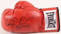 George Foreman & Evander Holyfield Signed Everlast Boxing Glove (JSA COA & Foreman Hologram)