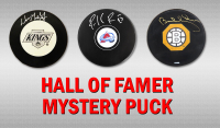 Schwartz Sports Hockey Hall of Famer Signed Logo Hockey Puck Mystery Box - Series 6 (Limited to 100)