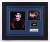 Andrew Jackson 19.5x23.5 Custom Framed Display with (1) Hand-Written Word From Letter (JSA LOA Copy) at PristineAuction.com