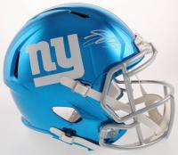 Saquon Barkley Signed New York Giants Full-Size Chrome Speed Helmet (Steiner Hologram & Panini COA) at PristineAuction.com