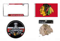 Chicago Blackhawks Champs Edition Mystery Autograph and Collectibles Gift Box–Series 2 (4 ITEMS IN EVERY BOX!!) at PristineAuction.com