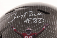 Jerry Rice Signed San Francisco 49ers Full-Size Hydro Dipped Speed Helmet (Beckett Hologram) at PristineAuction.com