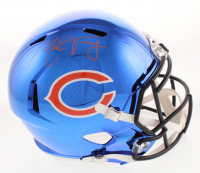 Mitch Trubisky Signed Chicago Bears Full-Size Chrome Speed Helmet (Fanatics Hologram) at PristineAuction.com