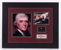 Thomas Jefferson 19.5x23.5 Custom Framed Display with (1) Hand-Written Word From Letter (JSA LOA Copy) at PristineAuction.com