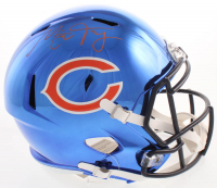 Mitch Trubisky Signed Chicago Bears Full-Size Chrome Speed Helmet (Fanatics Hologram)