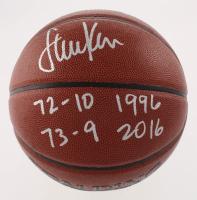 "Steve Kerr Signed NBA Basketball Inscribed ""72-10 1996"" & ""73-9 2016"" (Schwartz COA)"