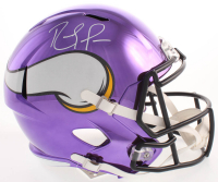 Randy Moss Signed Minnesota Vikings Full-Size Chrome Speed Helmet (Beckett COA)