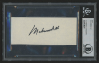 Muhammad Ali Signed 2.25x5 Cut (Beckett Encapsulated)