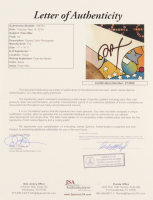Peter Max Signed 11x14 Photo (JSA LOA) at PristineAuction.com