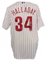 Roy Halladay Signed Philadelphia Phillies Majestic Jersey (Beckett LOA)