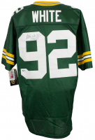 Reggie White Signed Green Bay Packers Wilson Jersey (Beckett LOA)