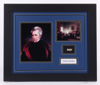Andrew Jackson 19.5x23.5 Custom Framed Display with (1) Hand-Written Word From Letter (JSA LOA Copy)