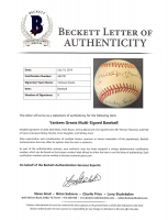 """New York Yankees Greats OAL Baseball Signed by (7) with Mickey Mantle, Enos Slaughter, Whitey Ford, Jake Gibbs, Hank Bauer, Johhny Blanchard & Bill """"Moose"""" Skowron (Beckett LOA) at PristineAuction.com"""