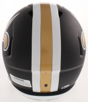 Drew Brees Signed New Orleans Saints Full-Size Matte Black Speed Helmet (Beckett COA) at PristineAuction.com