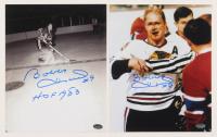 "Lot of (2) Bobby Hull Signed Chicago Blackhawks 8x10 Photos Inscribed ""HOF 1983"" (Schwartz Sports COA)"
