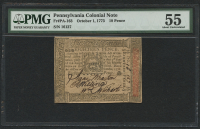 1773 - 18 Pence - Pennsylvania Colonial Currency Note - Fr#PA-163 (PMG 55)