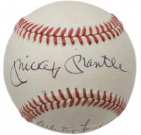 Mickey Mantle & Whitey Ford Signed ONL Baseball (Beckett LOA)