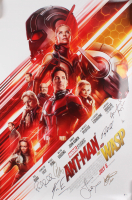 """""""Ant-Man and the Wasp"""" 27x40 Movie Poster Cast-Signed by (7) with Paul Rudd, Evangeline Lily, Michael Douglas & Laurence Fishburne (Beckett LOA)"""