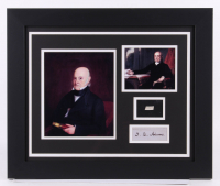John Quincy Adams 19.5x23.5 Custom Framed Display with (1) Hand-Written Word From Letter (JSA LOA Copy) at PristineAuction.com