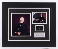 John Quincy Adams 19.5x23.5 Custom Framed Display with (1) Hand-Written Word From Letter (JSA LOA Copy)