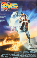"""Michael J. Fox Signed """"Back to the Future"""" 27x40 Movie Poster (Beckett COA)"""