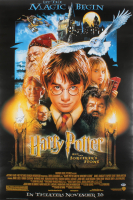"""Daniel Radcliffe Signed """"Harry Potter and the Sorcerer's Stone"""" 27x40 Movie Poster (Beckett COA)"""
