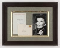Katharine Hepburn 17x22 Custom Framed Letter Display (JSA COA)