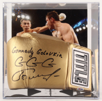 "Gennady Golovkin Signed Everlast Boxing Glove Inscribed ""GGG"" (PSA COA)"