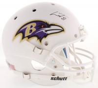 Lamar Jackson Signed Baltimore Ravens Full-Size Matte White Helmet (JSA COA)