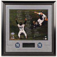 LE 1998 New York Yankees 27x27 Custom Framed Photo Display Team-Signed by (25) with Mariano Rivera, Derek Jeter, Andy Pettitte (Steiner COA & MLB Hologram)