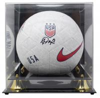 Alex Morgan Signed Team USA Soccer Ball with Display Case (JSA COA)