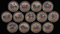 Lot of (13) Triple Crown Winners Colorized Gold Plated Statehood Quarters at PristineAuction.com