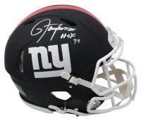 "Lawrence Taylor Signed New York Giants Full-Size Matte Black Speed Helmet Inscribed ""HOF 99"" (JSA COA)"