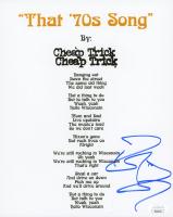 "Robin Zander Signed Cheap Trick ""That 70s Song"" 8x10 Lyrics Sheet (JSA COA) at PristineAuction.com"