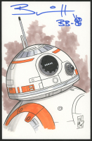 """Brian Herring Signed Tom Hodges - BB-8 - """"Star Wars"""" - ORIGINAL 5.5"""" x 8.5"""" Drawing on Paper (1/1)"""