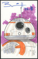 """Brian Herring Signed Tom Hodges - BB-8 - """"Star Wars"""" - ORIGINAL 5.5"""" x 8.5"""" Drawing on Paper (1/1) at PristineAuction.com"""
