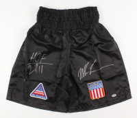 "Mike Tyson Signed Boxing Trunks Inscribed ""HOF 2011"" (PSA COA) at PristineAuction.com"