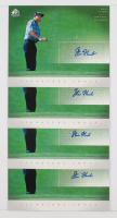 Lot of (15) 2004 SP Signature Shots 8 x 10 Golf Cards with #SM Shaun Micheel, #JH Jay Haas, #CR Ben Crane & #SF Steve Flesch