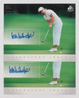 Lot of (15) 2004 SP Signature Shots 8 x 10 Golf Cards with #KU Candie Kung, #RR Reilley Rankin, #BB Beth Bauer, #RT Rachel Teske, #CH Candy Hannemann, #PE Suzann Pettersen, #JJ Jeong Jang & #KK Kelli Kuehne
