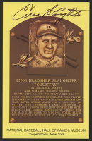 Enos Slaughter Signed Cardinals Hall of Fame Postcard (Slaughter Collection LOP) at PristineAuction.com