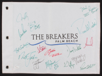 The Breakers Palm Beach Golf Pin Flag Signed by (16) with Jerry Kelly, Nick Price, Tim Brown, Bret Saberhagen, Nick Faldo, Annika Sorenstam with Inscriptions (JSA ALOA)