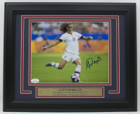 Alex Morgan Signed Team USA Soccer 11x14 Custom Framed Photo Display (JSA COA)