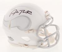 Adam Thielen Signed Minnesota Vikings White ICE Speed Mini Helmet (JSA COA)